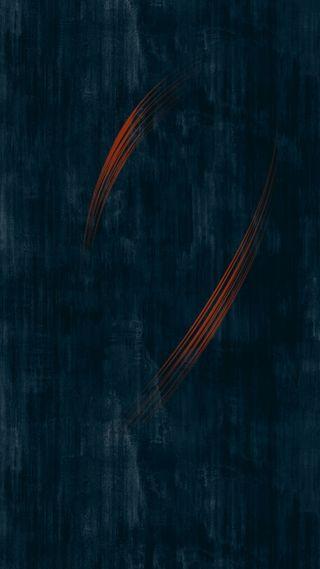 Обои на телефон оранжевые, синие, абстрактные, orange in blue