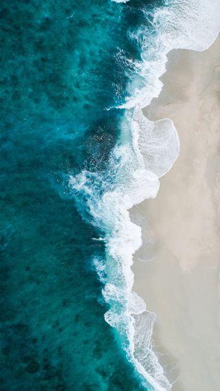 Обои на телефон shifaaz shamoon, синие, океан, волна, пляж