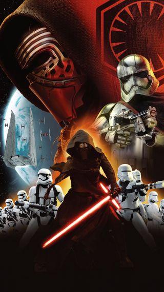 Обои на телефон captain phasma, star wars, star wars empire, темные, звезда, войны, капитан, сила, империя