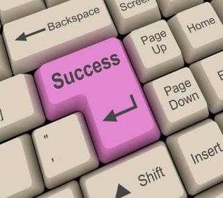 Обои на телефон успех, клавиатура