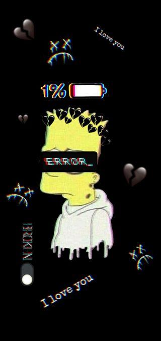 Обои на телефон sad bart, грустные, барт, симпсоны