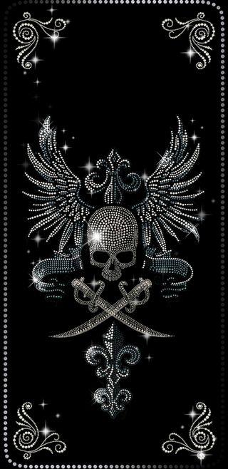 Обои на телефон шик, мечи, крылья, бриллиант, череп, diamondskull