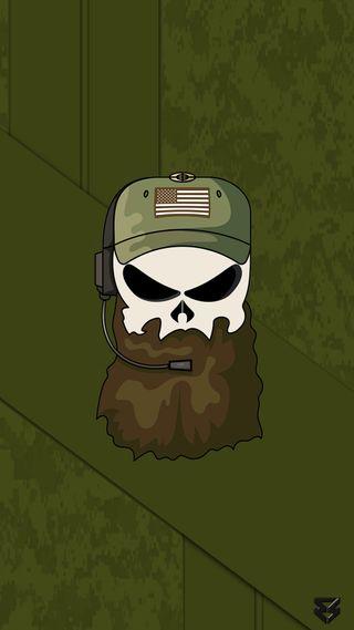 Обои на телефон военно морские, череп, специальные, рейнджер, команда, камуфляж, зеленые, борода, армия, tactical operator, special forces, seal, green beret, delta team
