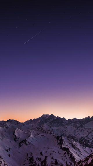 Обои на телефон горы, небо, закат