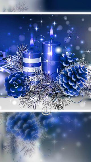 Обои на телефон свечи, рождество, праздник