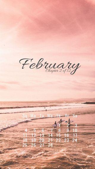 Обои на телефон календари, дизайн, february, feb, chapter