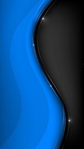 Обои на телефон черные, фон, синие, андроид, абстрактные, black n blue, android