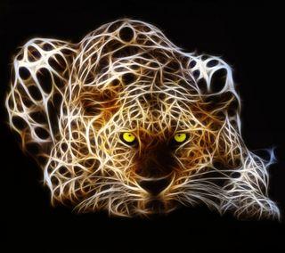 Обои на телефон фрактал, леопард, крутые, кошки, животные, великий, great cat