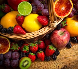 Обои на телефон фрукты, свежие, fresh fruits