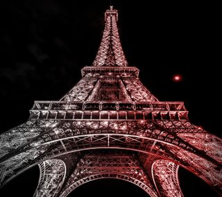 Обои на телефон эйфелева башня, париж, ночь, красые, башня