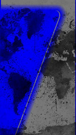 Обои на телефон galaxy, s7, samsung, s7edge blue-grey, синие, новый, галактика, самсунг, грани, серые, мир, карта, дизайн