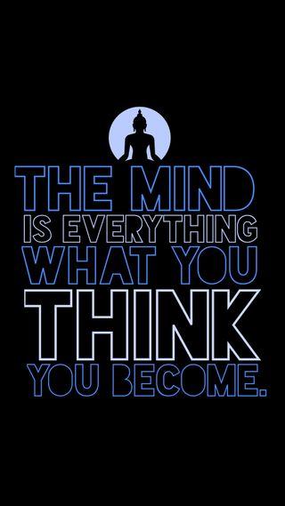 Обои на телефон цитата, ты, разум, думать, высказывания, будда, everything, become
