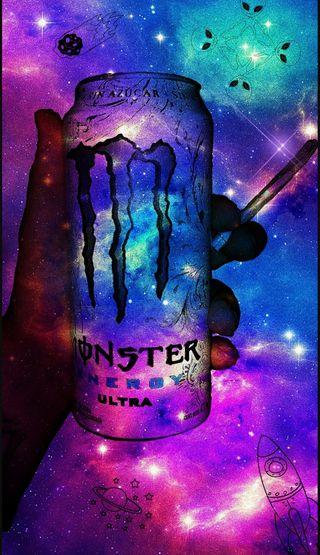 Обои на телефон галактика, monster w**d, monster, galaxy