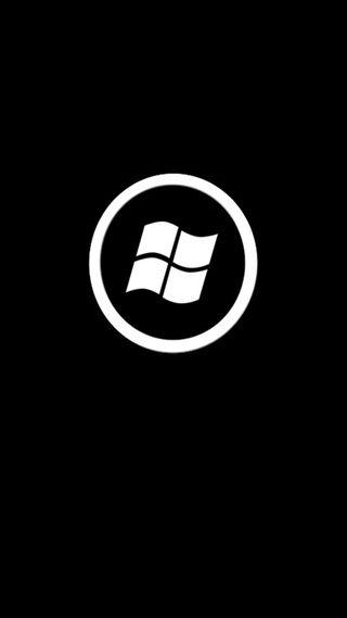 Обои на телефон черные, телефон, логотипы, белые, windows