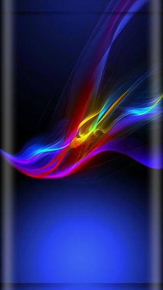 Обои на телефон волны, цветные, темные, танец, синие, дизайн, абстрактные