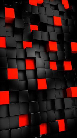 Обои на телефон квадраты, черные, красые