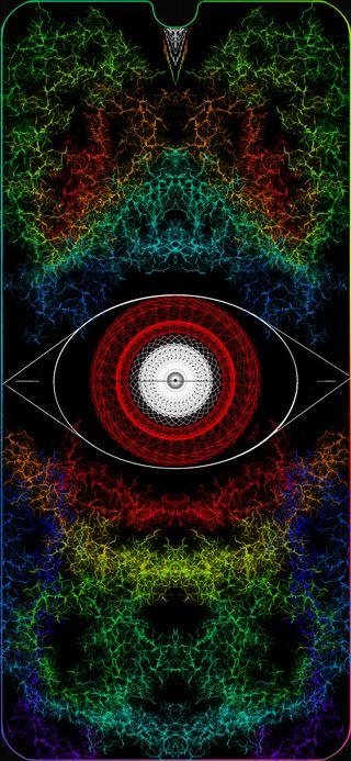 Обои на телефон выемка, черные, цветные, глаза, амолед, tercer ojo by idlm, amoled