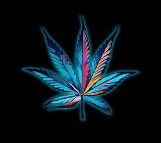 Обои на телефон дым, черные, синие, листья