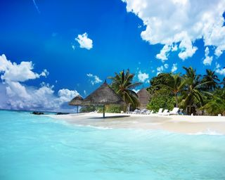 Обои на телефон рай, пляж