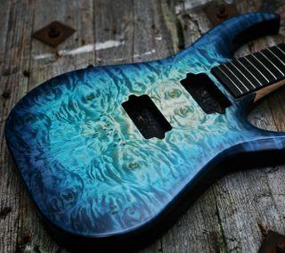 Обои на телефон гитара, синие, музыка, магия, зеленые