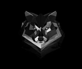 Обои на телефон волк, арт, art wolf