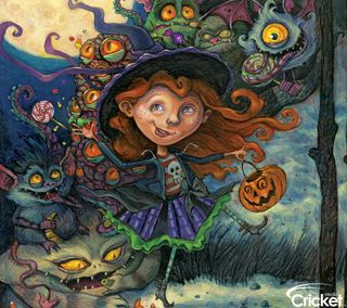 Обои на телефон крикет, хэллоуин, обманывать, дизайн, дети, арт, zedgehallow, trick or treater, art