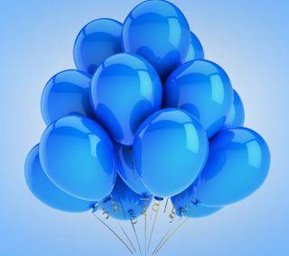 Обои на телефон шары, вечеринка, синие, празднование, праздник, день рождения