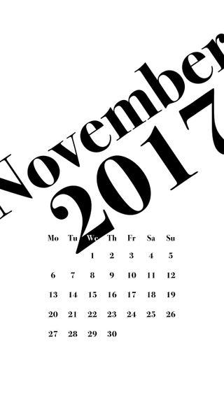 Обои на телефон типография, ноябрь, календарь, классика, nov, classic typography