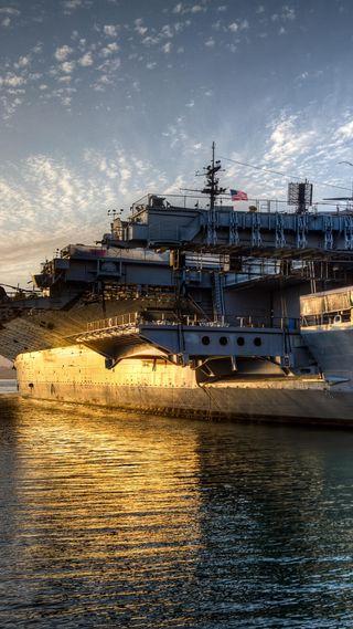 Обои на телефон самолет, море, лодки, корабли, военные, вода, армия, aircraft carrier