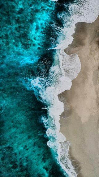 Обои на телефон падает, волны, волна, океан, город, вода