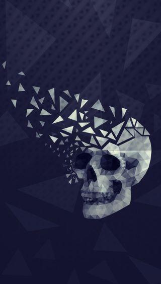 Обои на телефон геометрия, эпл, череп, темные, мысли, айфон, абстрактные, iphone, hd, apple