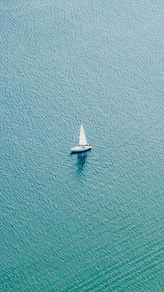 Обои на телефон чистые, соло, минимализм, синие, простые, парусные, море, лодки, solo sailing, sailboat