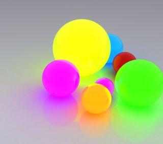 Обои на телефон шары, светящиеся