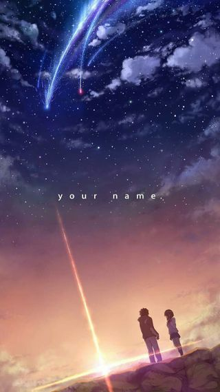 Обои на телефон ми, фильмы, твой, космос, имя, галактика, аниме, kimi no na wa, ki mi no, galaxy, comet