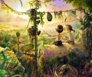 Обои на телефон друзья, природа, любовь, восход, аниме, love