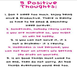 Обои на телефон позитивные, правда, мысли, жизнь, 5 positive thoughts, 2013