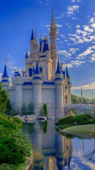 Обои на телефон магия, мир, королевство, золушка, замок, дисней, walt disney world, magic kingdom, disney