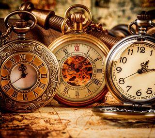 Обои на телефон часы, старые, old watch, kp, cd