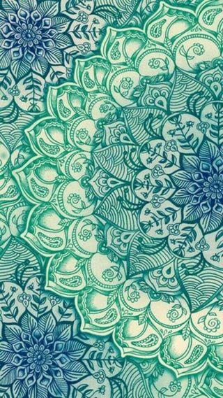 Обои на телефон мандала, цветные, синие, симпатичные, милые, зеленые, дудлы, дизайн