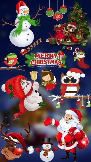 Обои на телефон сова, счастливое, санта, рождество, робин, каникулы, rudolf