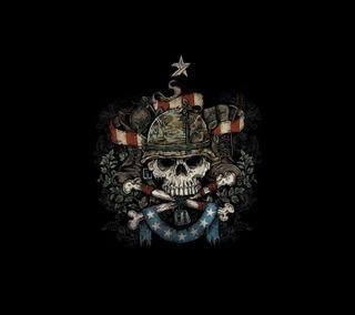 Обои на телефон смерть, череп, темные, война, анархия, bootcamp skull, boot