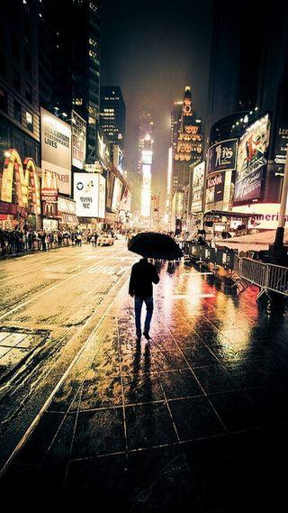 Обои на телефон нью йорк, улица, ночь, новый, город