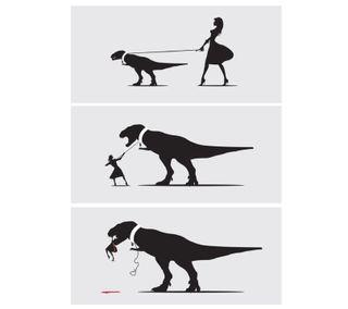 Обои на телефон смех, прогулка, мультфильмы, забавные, динозавр, walk the t rex, t-rex, hd