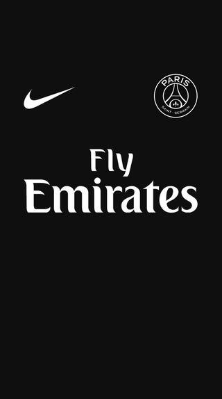 Обои на телефон псж, черные, футбол, найк, комплект, джерси, third, psg black kit, nike, ligue 1