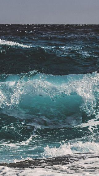 Обои на телефон волны, синие, океан, breakers