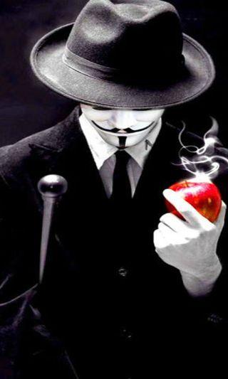 Обои на телефон хакер, черные, маска, анонимус, anonymous mask