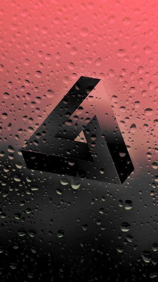Обои на телефон капли дождя, формы, треугольник, простые, невозможно, крутые, красые, капли, дизайн, геометрические, hd
