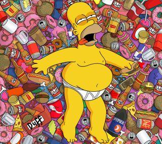 Обои на телефон гомер, симпсоны, мультфильмы, simpson - homer, man