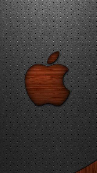 Обои на телефон эпл, логотипы, кожа, дерево, mac, leather and wood, ios, apple
