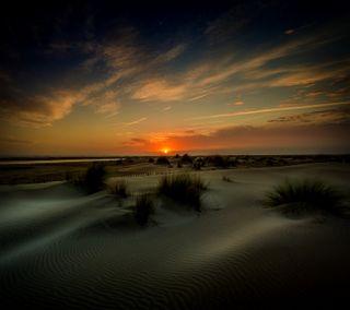Обои на телефон пустыня, закат